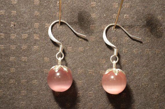Glass bead dangle earrings / Lasihelmi roikkuvat riippuvat korvakorut