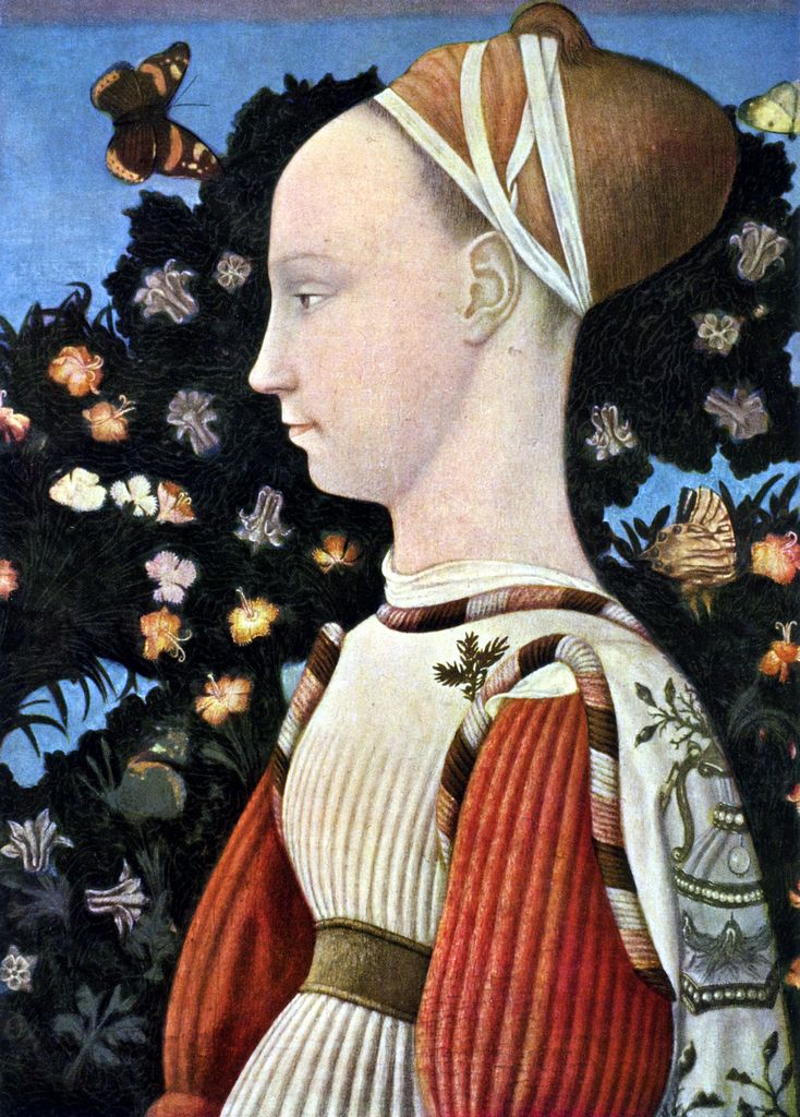Antonio di Puccio Pisano, il Pisanello  Ritratto di Margherita Gonzaga, c. 1438  Musee du Louvre, Paris