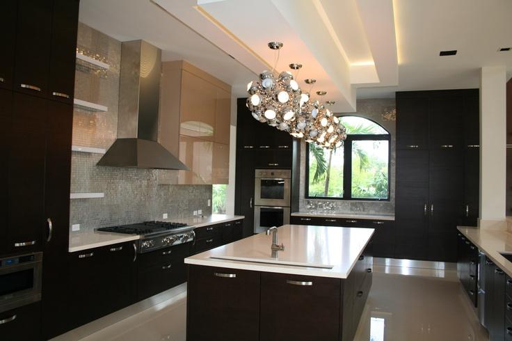 Contemporary Kitchen in South Florida Landmark Custom Home: Custom Home