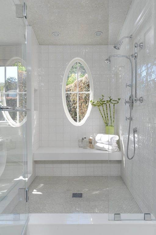 Transform your shower into a relaxing getaway with pretty bottles and some humidity-loving greenery.