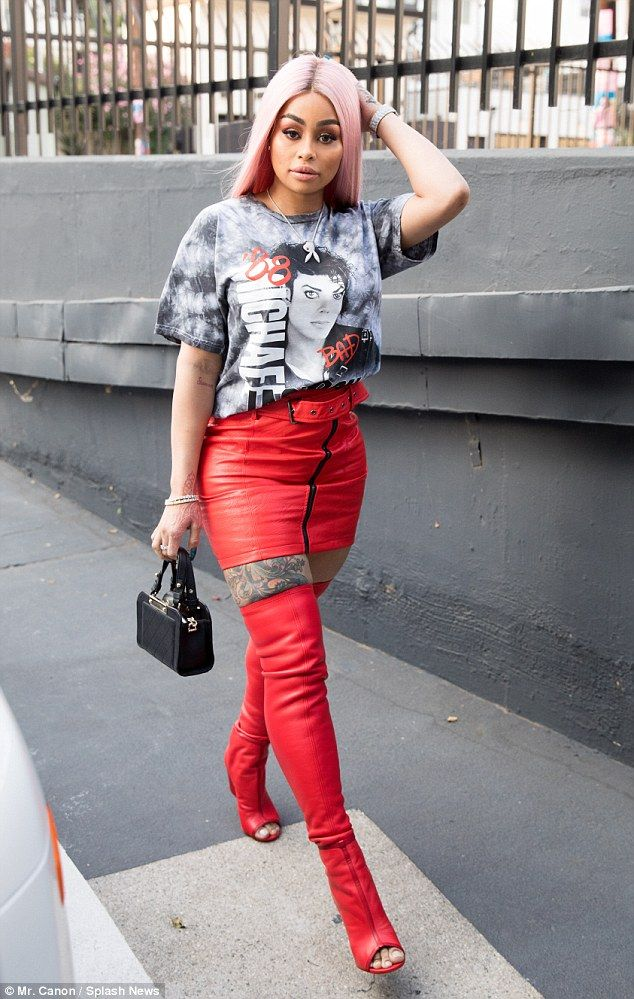 Revvv things up in red with Blac Chyna s mini skirt  dailymail Click   Visit  to buy now 075fb83ec