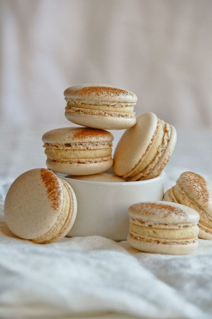 """I'm a big fan of taking the flavours of something ordinary, like french  toast drenched in maple syrup, creating a completely different and elevated  version of it, and still making you think, """"French toast!"""" when you eat  it.  It's a fun way to play around in the kitchen and put your own spin on  things. These macarons were inspired by a recipe for a chocolate bar in  Francisco Migoyas Elements of Dessert. The ganache was poured over slices  of brioche while still warm, then cooled, cut…"""
