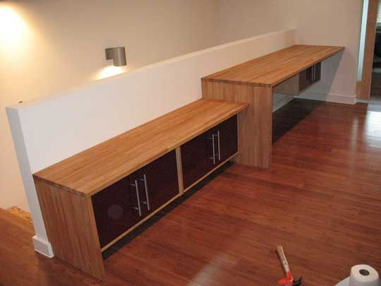 Long Floating Desk Make From Ikea Cabinets
