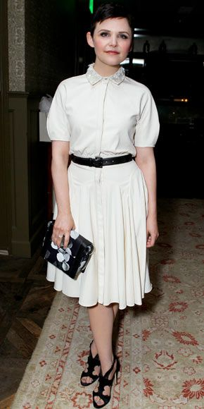 Ginnifer Goodwin at the InStyle dinner in honor of Jason Wu sporting the designer's embellished shirtdress.