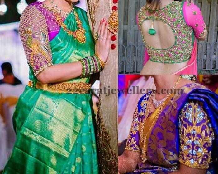 Trendy Wedding Blouses 2015 | Saree Blouse Patterns