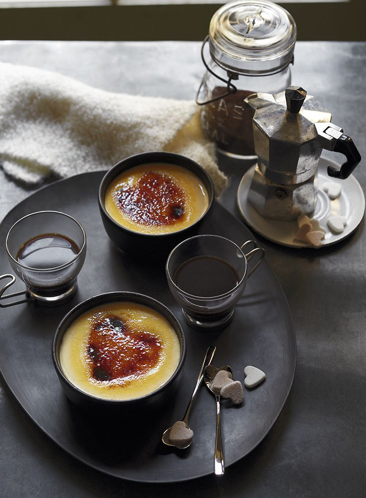 Cointreau infused clementine brûlée – complete with heart-shaped topping! Recipe: http://www.waitrose.com/content/waitrose/en/home/recipes/recipe_directory/c/clementine_brulee0.html