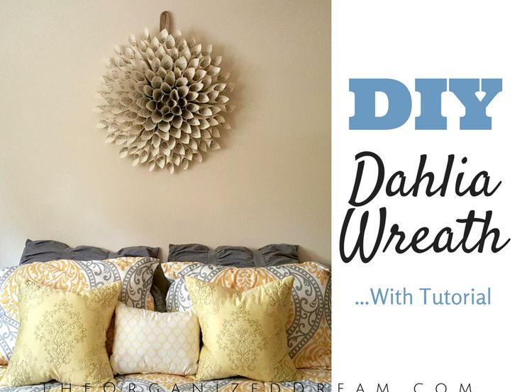 DIY Dahlia Wreath