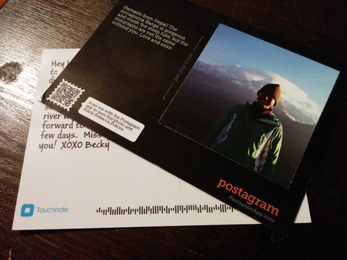 touchnote postcard app