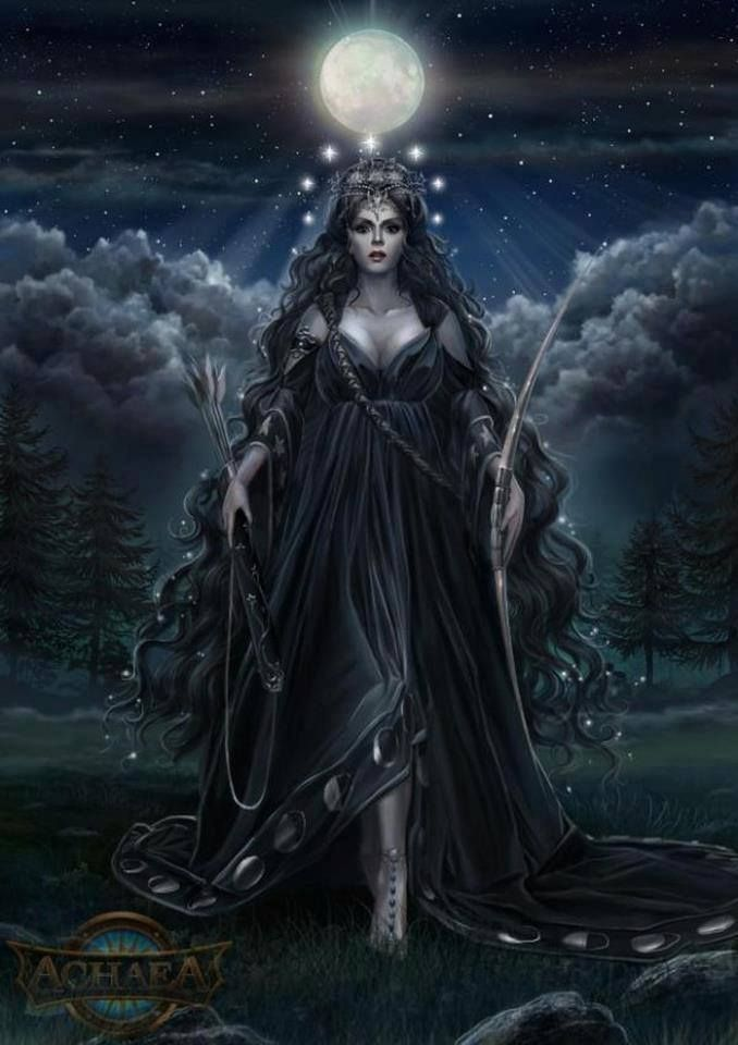 Nyx - goddess (or personification) of the night; the mother of other personified deities such as Hypnos (Sleep) and Thanatos (Death); she was feared by Zeus himself