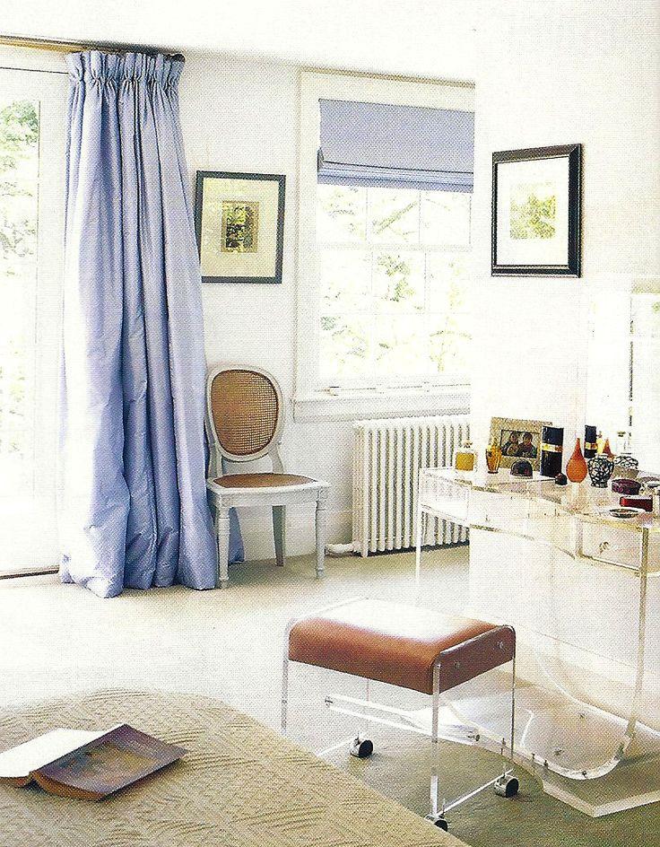 lavender panels and roman shade