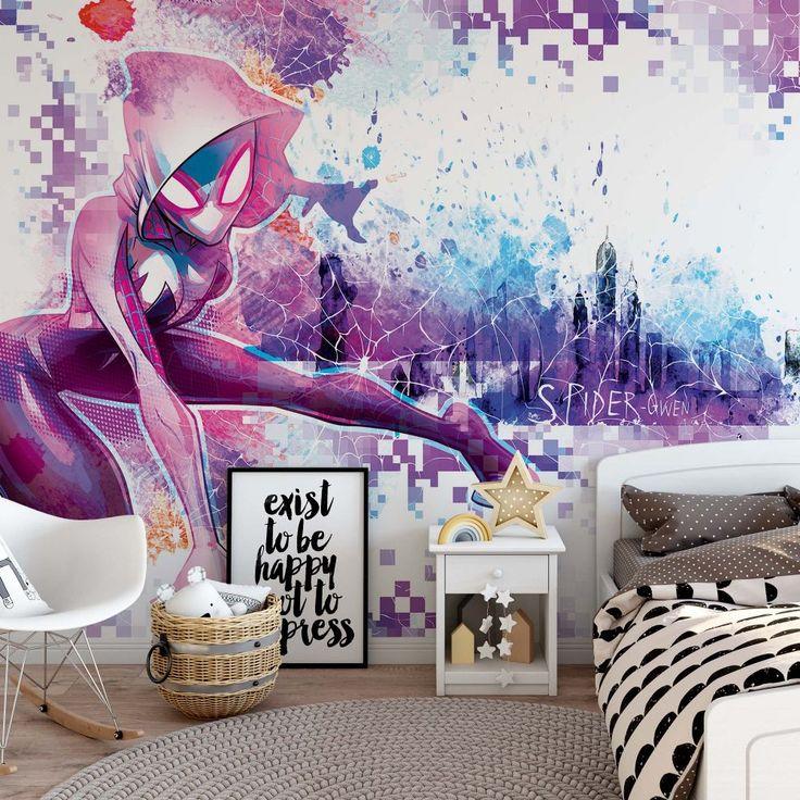 Giant size wallpaper mural for girly bedroom. Kids room