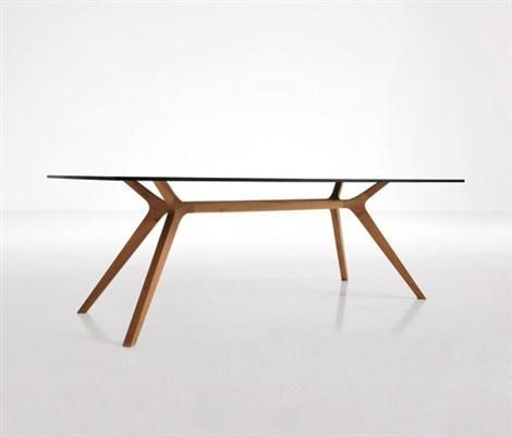 Glass Dining Table By Claudio Bellini For Frezza | Polos Furniture. Beautiful line and slim profile.