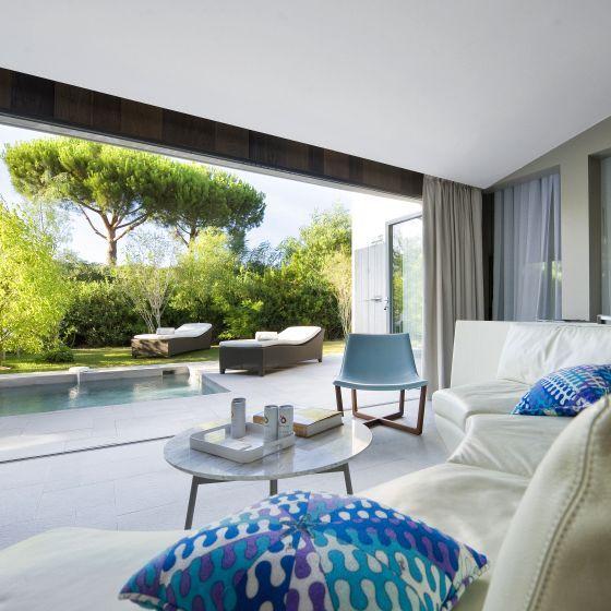 The seductive villa with private garden and small private swimming pool.