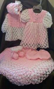 Crochet Layette Girl Free Pattern   ... Layette Set Clothing Shoes & Accessories Baby & Toddler Clothing Girls