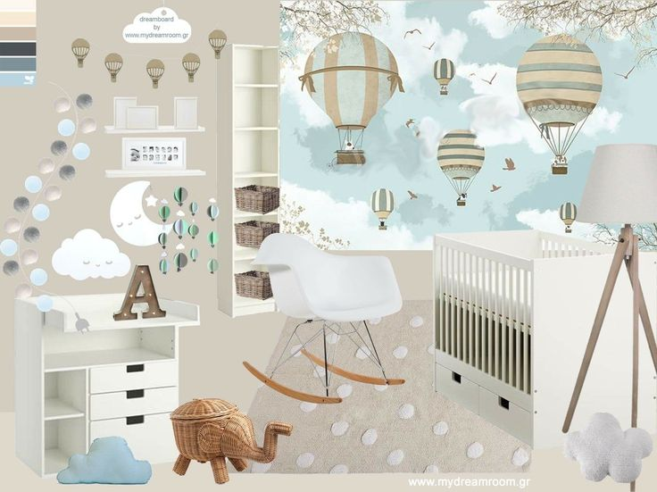 Boy's nursery_dreamboard by www.mydreamroom.gr