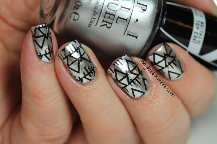 OPI Push and Shove stamped with MoYou Artist Collection-03