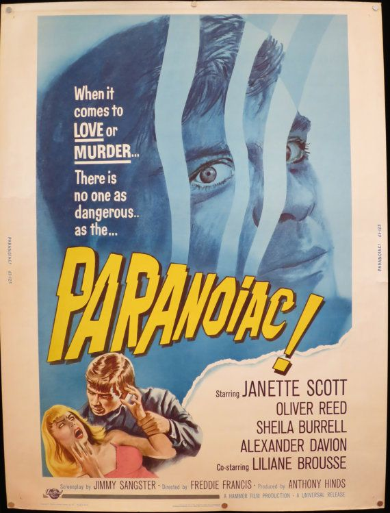 PARANOIAC 1963 Hammer Horror Rolled 30x40 by ...