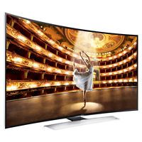 "New Samsung UN55HU9000 55"" 3D UHD LED LCD Internet TV Curved Screen Television"