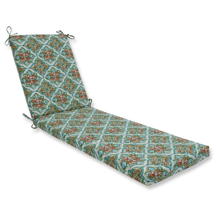 Outdoor/Indoor Splendor Opal Chaise Lounge Cushion - Pillow Perfect,