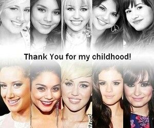 Ashley Tisdale (Suite life), Vanessa Hudgens (HSM), Miley Cyrus (Hannah Montana), Selena Gomez (Wizards of Waverly Place) and Demi Lovato (Sonny With a Chance)