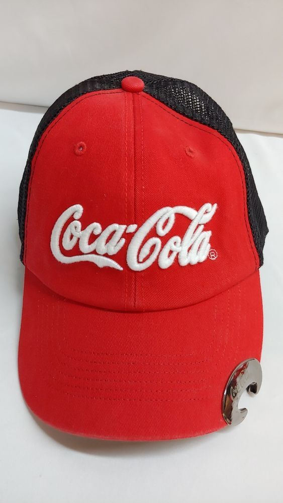 3b2750b038c Coca Cola Baseball Hat Cap with Bottle Opener on Bill Snapback Mesh HTF   fashion  clothing  shoes  accessories  mensaccessories  hats (ebay link)