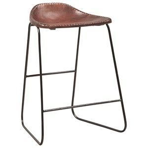 Dining+Chairs+and+Bar+Stools+Metal+Counter+Height+Stool+with+Saddle+Seat