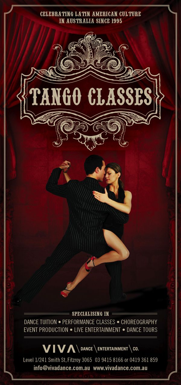 Tango Bar Flyer & Poster by kerry kershaw, via Behance