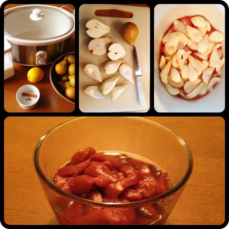 Stoofpeertjes koken in de Slowcooker | Gezin over de Kook