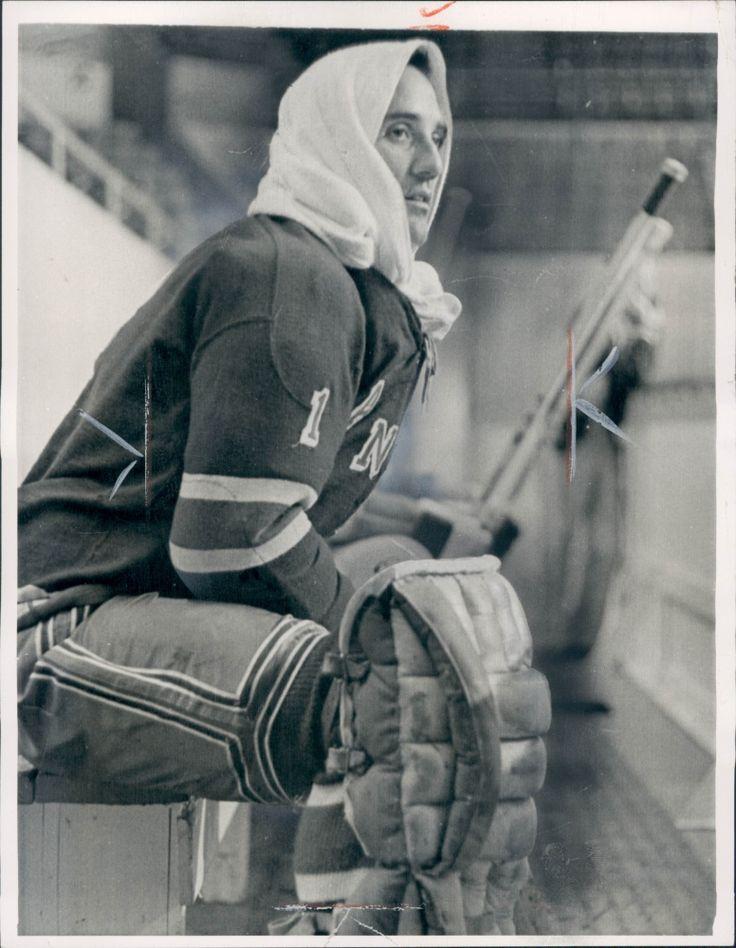 Jacques Plante, c. 1964, Rangers team practice.