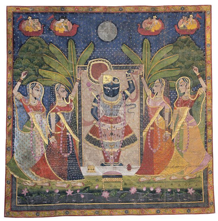 Paintings of Krishna and his devotees.