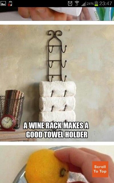 Wine Rack Towel Holder Bathroom Remodel Pinterest