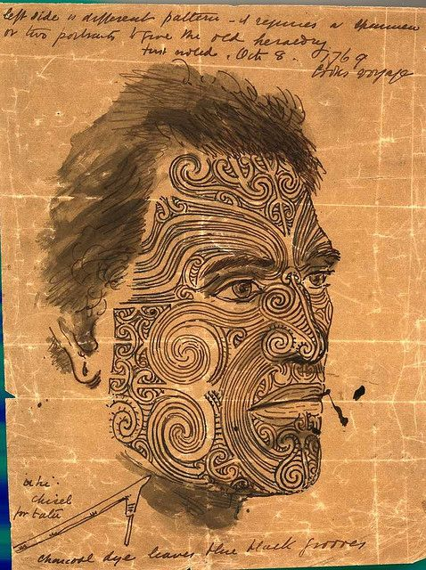 An illustrated study of Ta Moko - New Zealand Maori Tattoo.