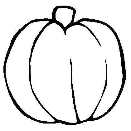 Pumpkin Coloring Page for kid to decorate