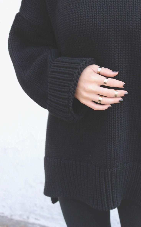 chunky knit: