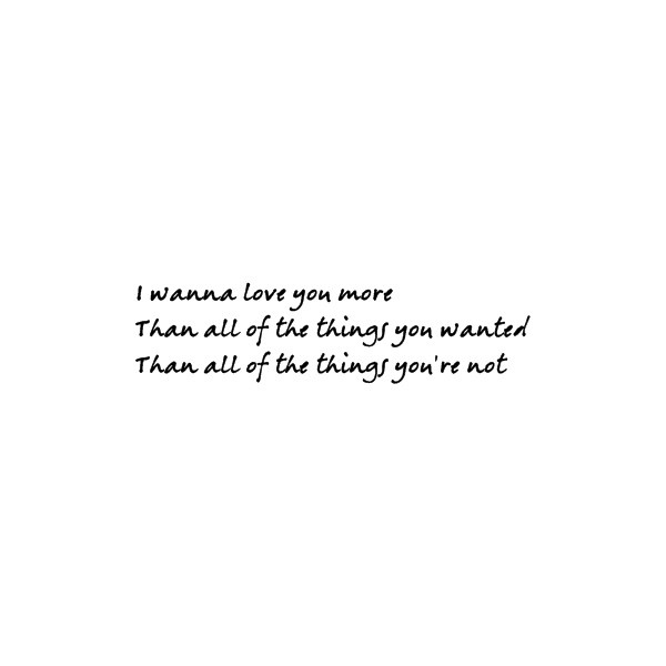 White Dress by Parachute lyrics quote - Fonts.com ❤ liked on Polyvore