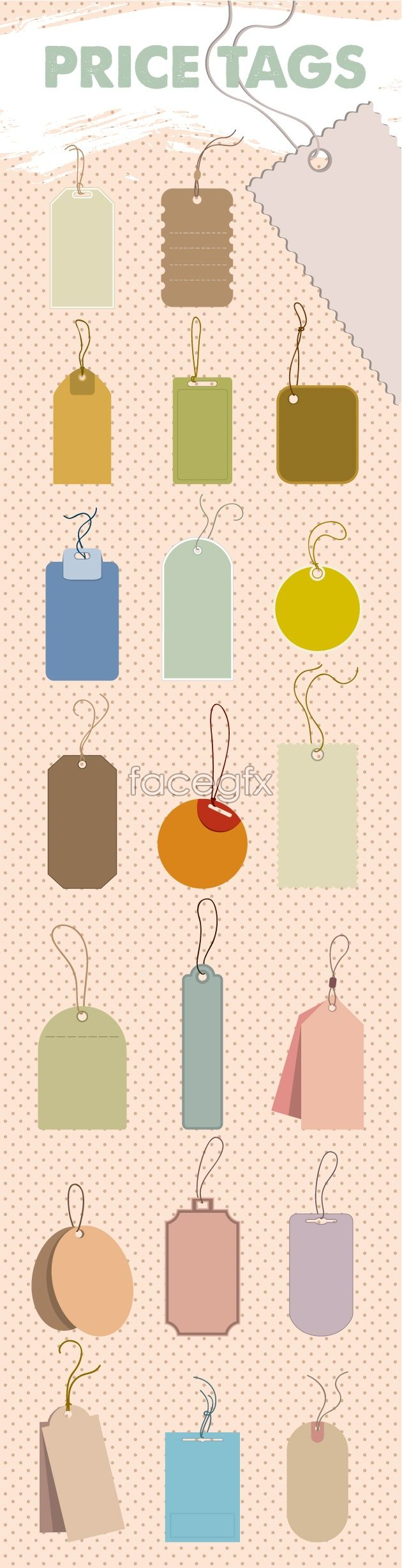 Cute dog tag template vector