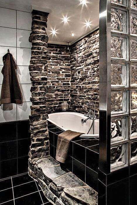 duschen rustikal wohnen dusche gemauert rezepte paradies irgendwann badewannen rustikale bder home deko