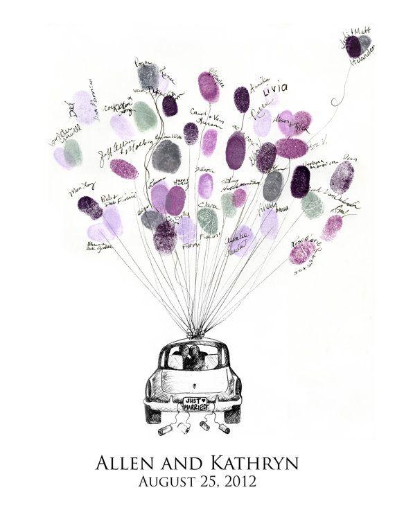 Custom Wedding Fingerprint Guestbook includes ink by EricaLarson1, $70.00