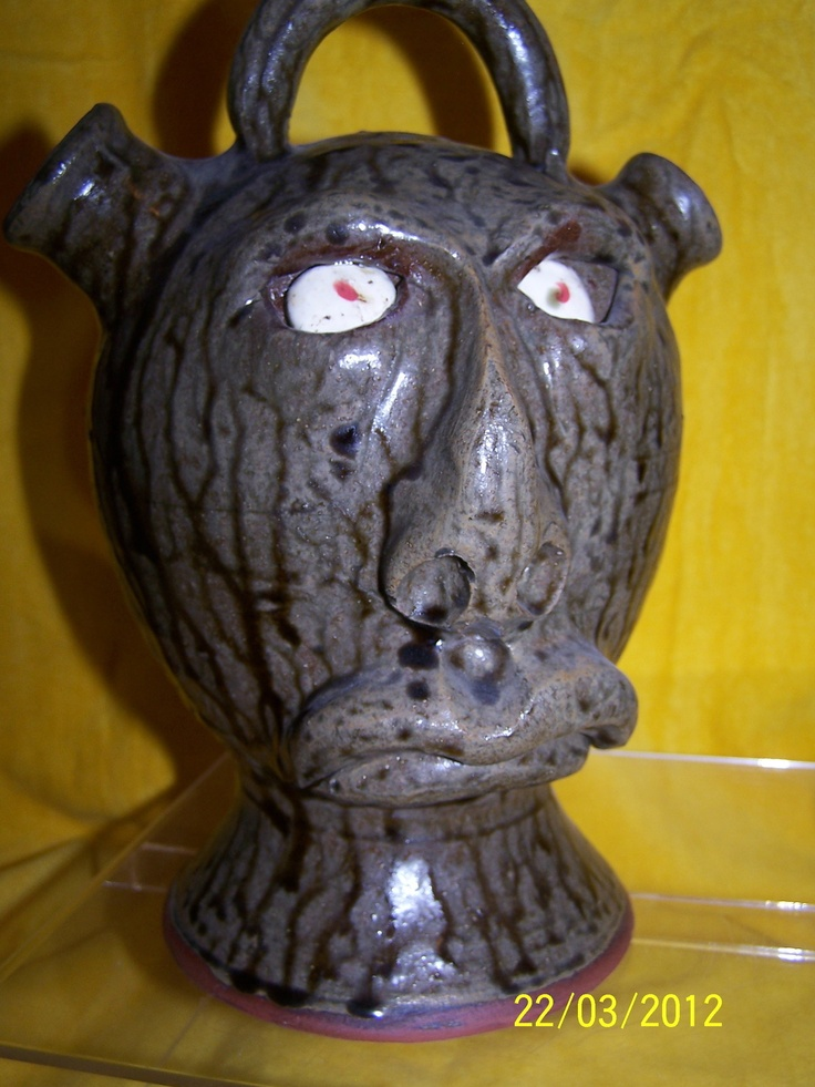 Double Spout Mad Face Jug - Jeff Standridge, Gillsville, GA - Free Shipping | eBay: Jeff Standridg, Faces Jugspour, Jugspour Vessel, Faces Jugspotteri, Faces Jug Pour, Jugs Pouring Vessels, Faces Jug Pottery, Jug Pour Vessel, Faces Jugs Pouring