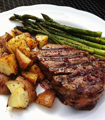 filet mignon with browned butter red wine sauce
