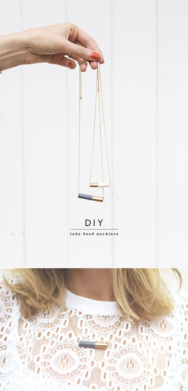DIY necklace | Would be a brilliant gift to send to a friend or make for yourself.