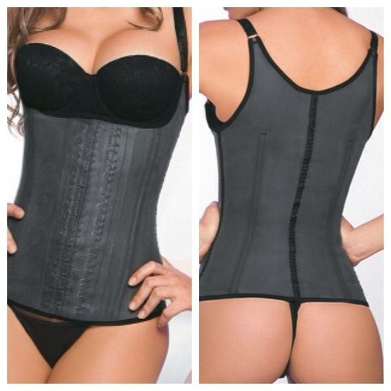 Latex Vest Waist Cincher. This trainer helps to remove back fat as well as train your waist for that Hour glass waist for your big day. www.purewaisted.com, $45.99, free shipping.