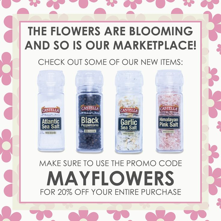 The flowers are blooming and so is our Marketplace! Check out our new items and make sure to use the promo code MAYFLOWERS at checkout for 20% off your entire purchase - offer valid thru 05/12/18.