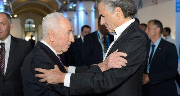 92-летний Шимон Перес, девятый президент Израиля, произнес один из самых мотивирующих, по мнению участников, спичей...