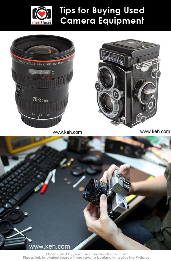 Tips for Buying Used Camera Equipment via KEH Camera and iHeartFaces.com