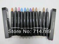 Envío de la nueva CEJA maquillaje TALLADORA y CREYÓN OJOS 2 EN 1 impermeable y retráctiles 3G 12 COLORES ( 12pcs / lot ) la sombra de ojos