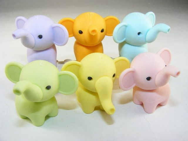 wholesale 925 silver Japanese Collectible Erasers   Elephant Collection