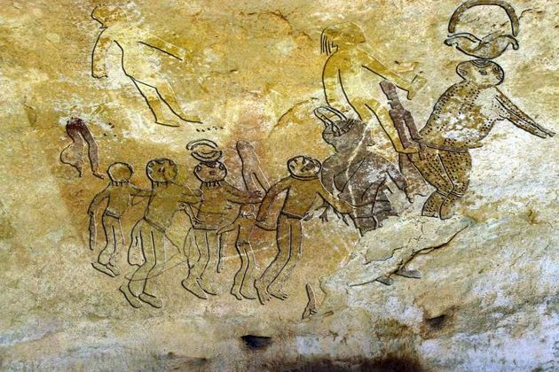 10,000-year-old cave paintings in Bastar, India depict aliens, UFOs