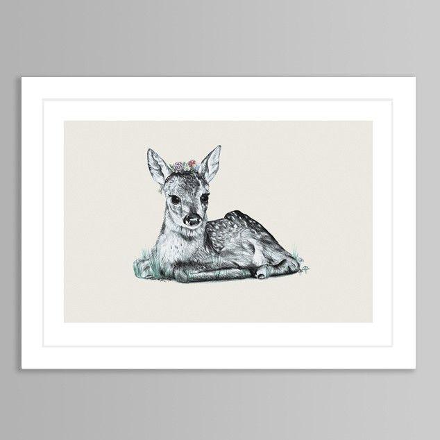 Bambi Art Print by Olivia Bezett