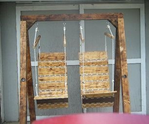 double hanging pallette chairs